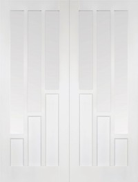 LPD Coventry Glazed Pairs White Primed Internal Door