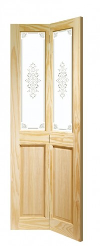 XL Joinery Victorian Bi-Fold Internal Clear Pine Door with Campion Glass