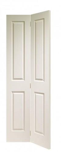 XL Joinery Victorian 4 Panel Bi-Fold Internal White Moulded Door