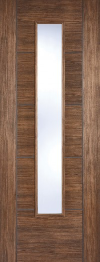 LPD Vancouver Walnut Glazed Laminate Pre-finished Internal Door