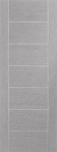 XL Joinery Palermo Pre-Finished Light Grey Door Pair with Clear Glass