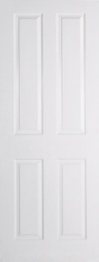 LPD Textured 4P White Moulded Internal Door