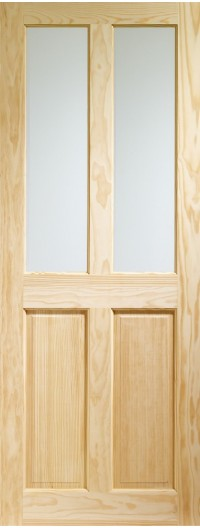 XL Joinery Victorian 4 Panel Internal Clear Pine Door with Clear Glass