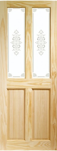 XL Joinery Victorian 4 Panel Internal Clear Pine Door with Campion Glass