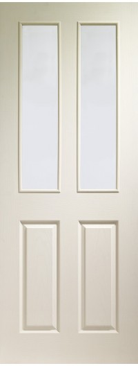 XL Joinery Victorian Internal White Moulded Door with Clear Glass