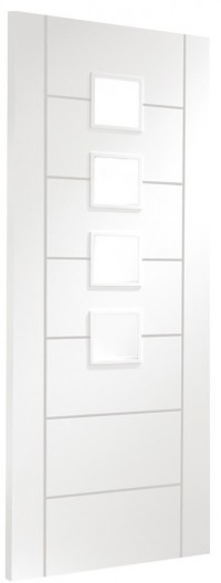 XL Joinery Palermo Internal White Primed Door with Obscure Glass