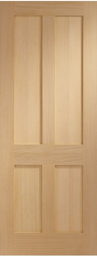 XL Joinery Victorian Shaker 4 Panel Internal Oak Door