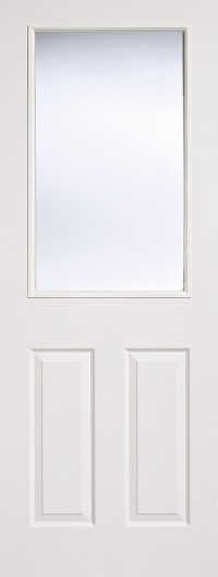 LPD Textured Pre Glazed 1L/2P White Moulded Internal Doors