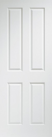 XL Joinery Victorian 4 Panel Internal Pre-Finished White Moulded Door