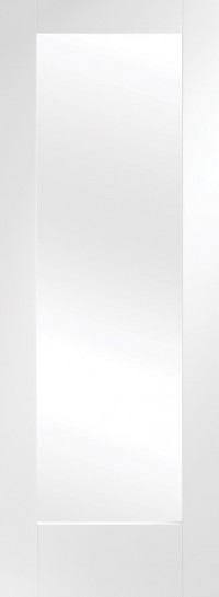XL Joinery Pattern 10 Internal White Primed Door with Clear Glass