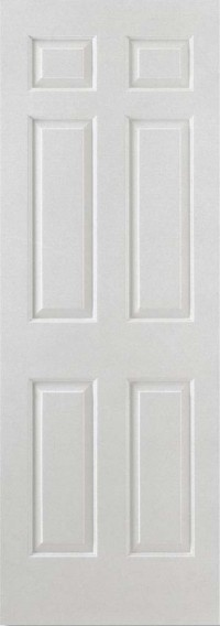 LPD Smooth 6P Square Top (Semi Solid Core) White Moulded Internal Door