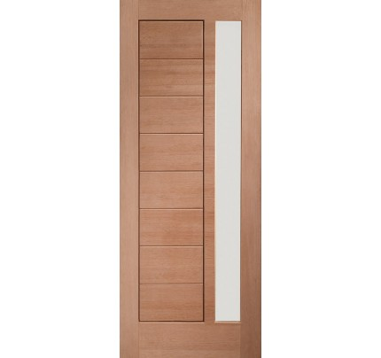 XL Joinery Modena External Hardwood Door with Double Glazed Obscure Glass - 1981 x 838 x 44mm