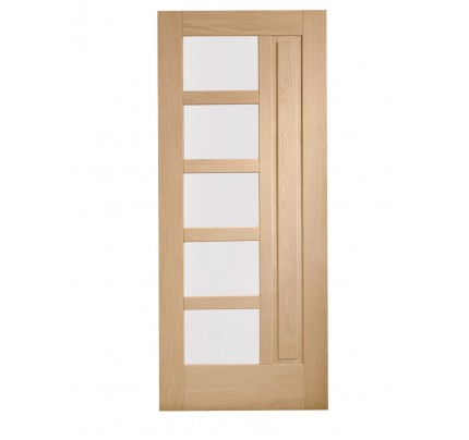 XL Joinery Lucca Double Glazed External Oak Door with Obscure Glass- 1981 x 838 x 44mm