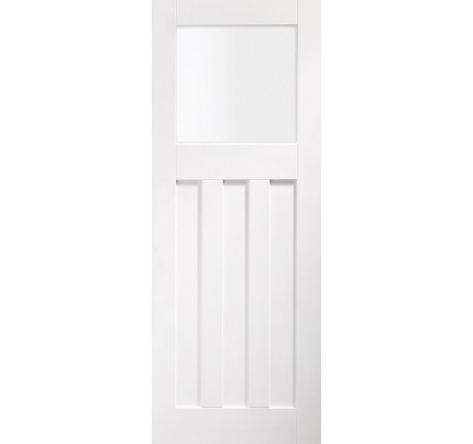 XL Joinery DX Internal White Primed Door with Obscure Glass - 1981 x 762 x 35mm