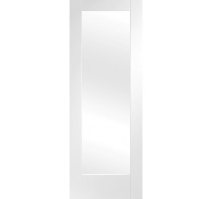 XL Joinery Pattern 10 Internal White Primed Rebated Door Pair with Clear Glass - 1981 x 915 x 40mm