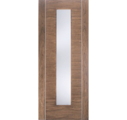 LPD Alcaraz Glazed 1L Internal Walnut Doors