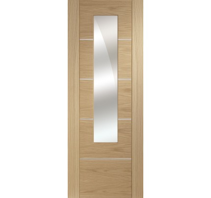 XL Joinery Portici Pre-Finished Oak Door with Mirror Panel - 1981 x 762 x 35mm
