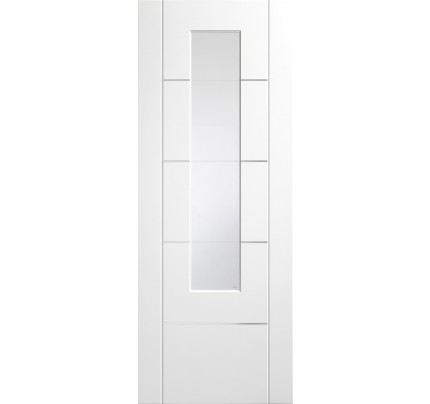 XL Joinery Portici Pre-Finished Internal White with Clear Etched Glass - 1981 x 762 x 35mm