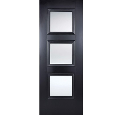 LPD Amsterdam Black Glazed Primed Internal Door