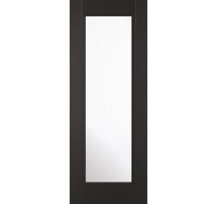 "LPD Vancouver 1L Black Laminated Internal Doors 1981 x 686 (27"")"
