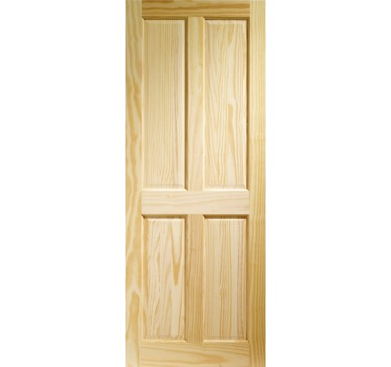XL Joinery Victorian 4 Panel Internal Clear Pine Door