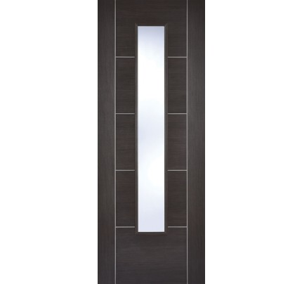 LPD Vancouver Dark Grey Glazed Laminate Pre-finished Internal Door