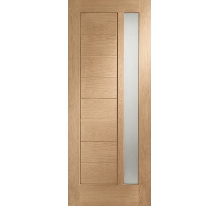 XL Joinery Modena Double Glazed External Oak Door with Obscure Glass