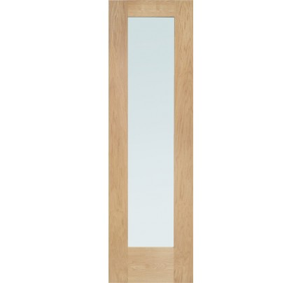 XL Joinery Pattern 10 Double Glazed External Oak Door Side Light with Obscure Glass
