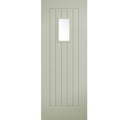 LPD Suffolk 1L French Sage Embossed External Doors