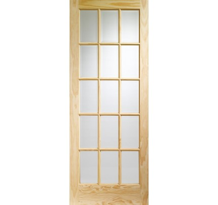 XL Joinery SA77 Internal Clear Pine Door with Clear Glass