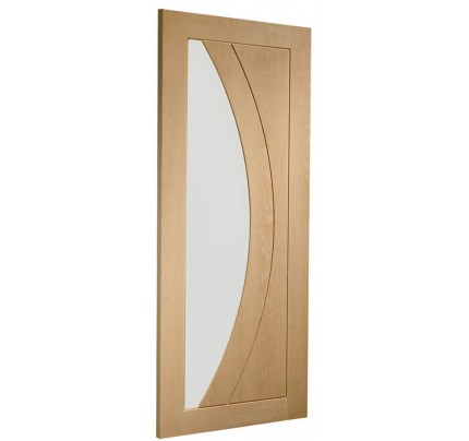 XL Joinery Salerno Internal Oak Rebated Door Pair with Clear Glass