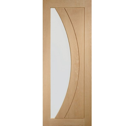 XL Joinery Salerno Internal Oak Door with Clear Glass