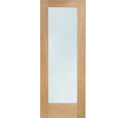 XL Joinery Pattern 10 Internal Oak Fire Door with Clear Glass