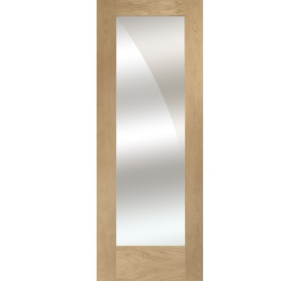 XL Joinery Pattern 10 Internal Oak Door with Mirror Panel