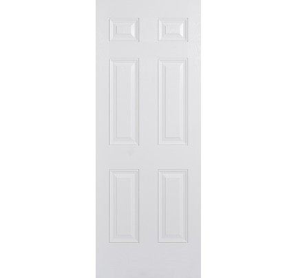 LPD GRP Composite Colonial 6P White Pre-Finished External Door