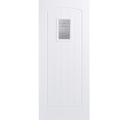 LPD Cottage White Glazed Pre-Finished Composite GRP External Door