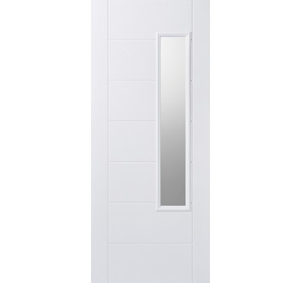 LPD Newbury White Glazed Pre-Finished Composite GRP External Door
