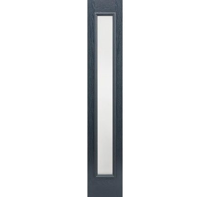 LPD GRP Composite Grey Frosted External Sidelight