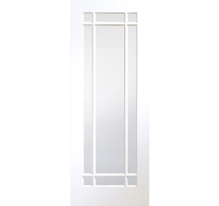 XL Joinery Cheshire Internal White Primed Door with Clear Glass