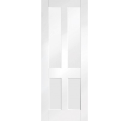 XL Joinery Malton Shaker Internal White Primed Door with Clear Glass