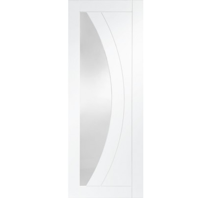 XL Joinery Salerno Internal White Primed Rebted Door Pair with Clear Glass