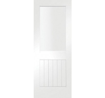 XL Joinery Suffolk 1 Light Internal White Primed Door with Clear Glass