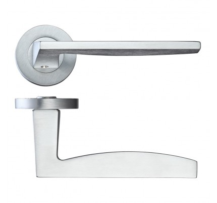 LPD Crux Hardware Pack Satin Chrome Handle-230 x 160 mm