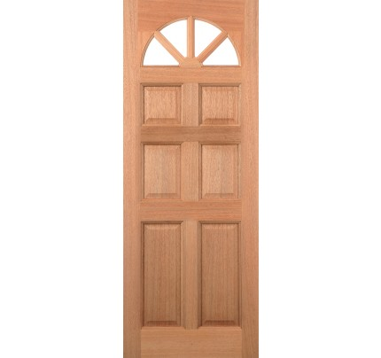 LPD Carolina 6P Hardwood Un-Finished External Door