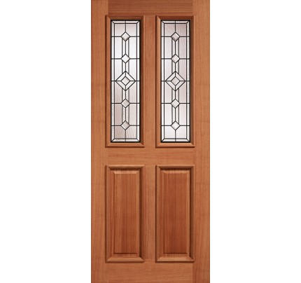 LPD Derby Lead Double Glazed Hardwood Un-Finished External Door