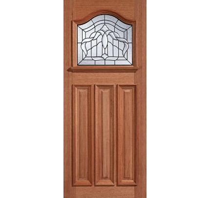 LPD Estate Crown Hardwood Glazed Un-Finished External Door