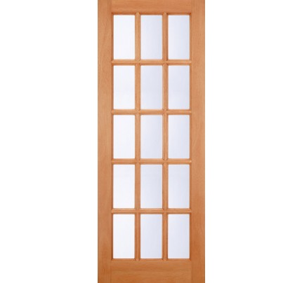 LPD SA Clear Glazed Hardwood M&T Un-finished External Door