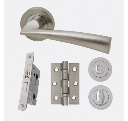 LPD Mars Polished Chrome & Satin Nickel Privacy Handle Pack