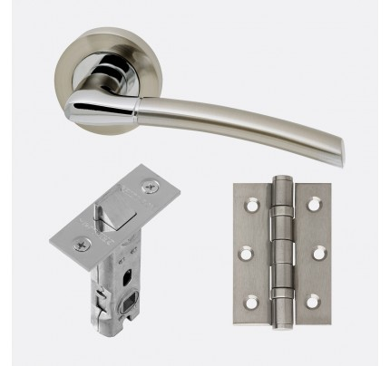 LPD Mercury Polished Chrome & Satin Nickel Handle Pack