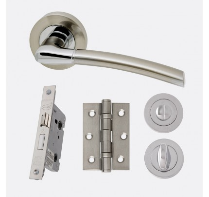 LPD Mercury Polished Chrome & Satin Nickel Privacy Handle Pack